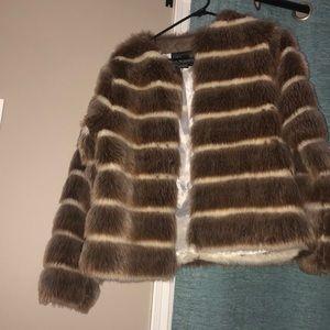 Striped furry jacket